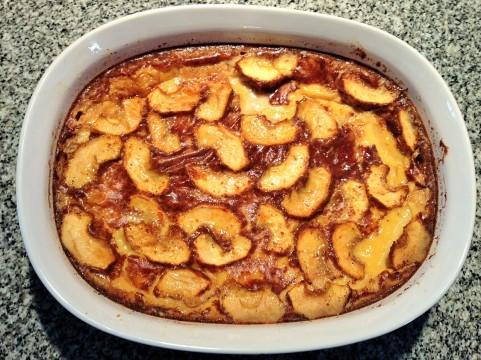 Leche asada con manzanas