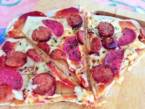 Masa para pizza extra delgada